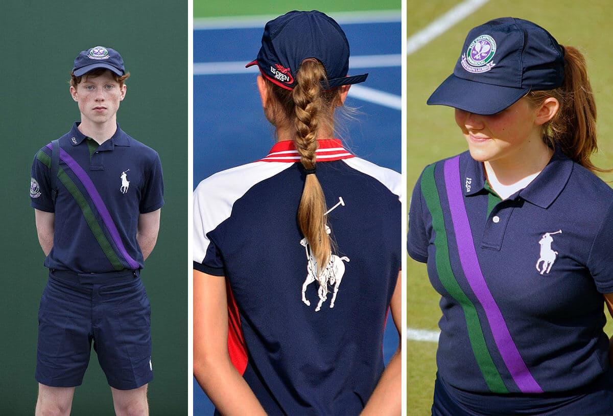 ball boy and girl dress code in tennis