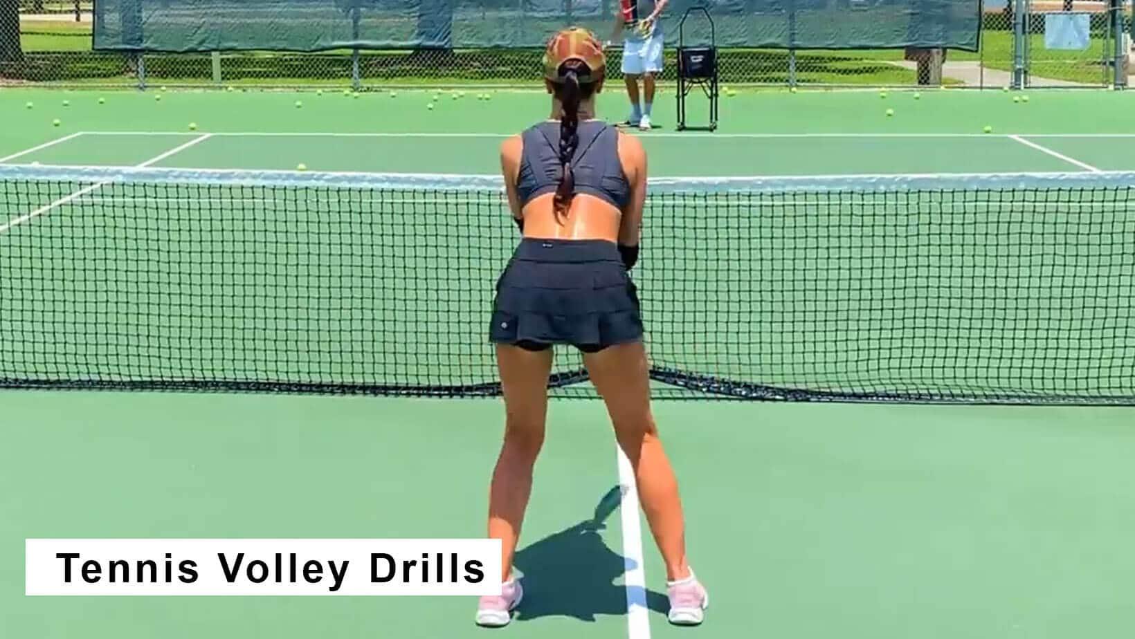 tennis volley drills